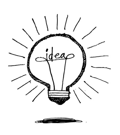 Concept of idea inspired bulb