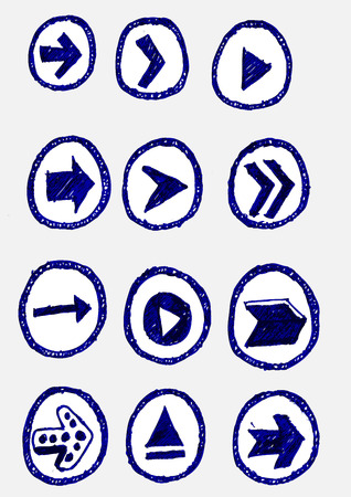 designator: Icono de flecha conjunto de dise�o vectorial Vectores