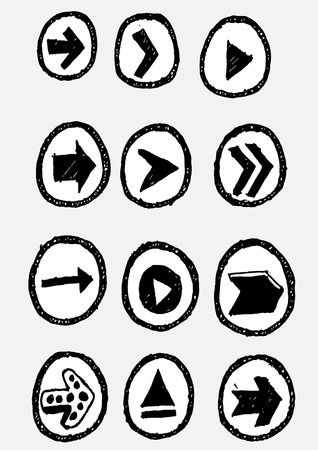 orientation marker: Design freccia Vector set
