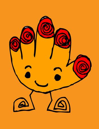 Cartoon cute monsters in Jaidee Family Style Stock Vector - 22481319