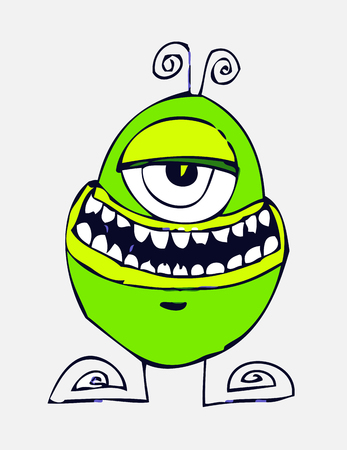 whimscal: Cartoon cute monsters in Jaidee Family Style