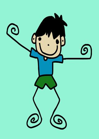 smart boy: Man cartoon in Jaidee Family Style