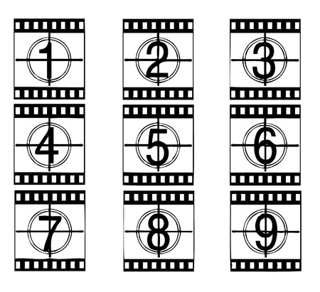 Vector film strip illustration Vector