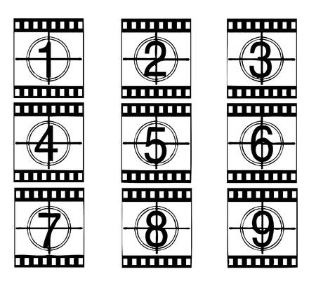 35 mm: Vector film strip illustration Illustration