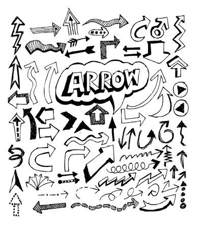 satin round: Arrow icon set Vector design
