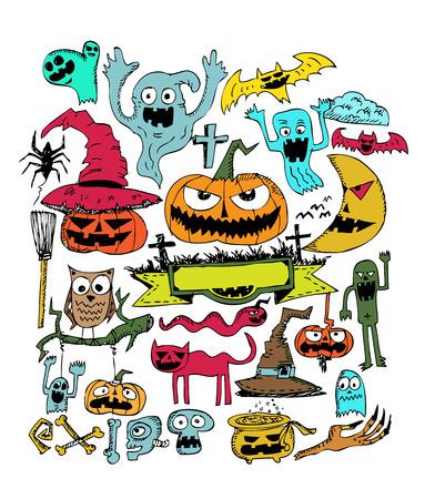 Happy Halloween theme and halloween background pumpkin ghost