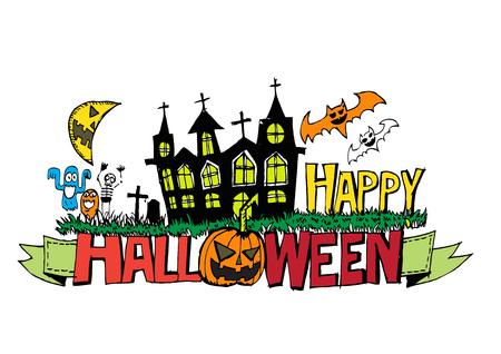 Happy Halloween theme halloween background