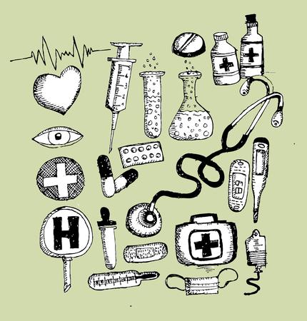 iconos medicos: iconos de m�dicos y s�mbolo m�dico