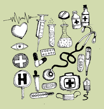 medical icons and medical symbol  Vector