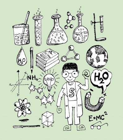 science object in doodle style design Stock Vector - 22850873