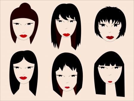 People faces cartoon  Vector