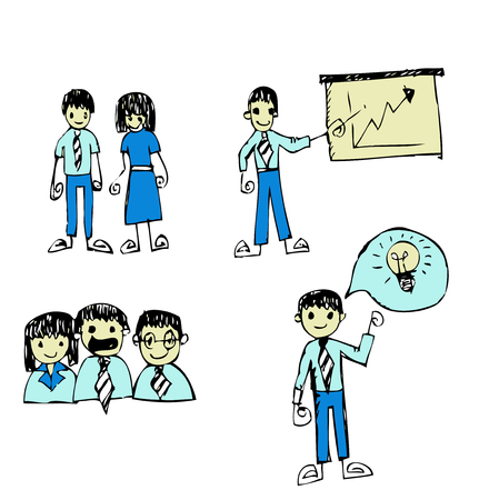 business man and business people  cartoon  Vector