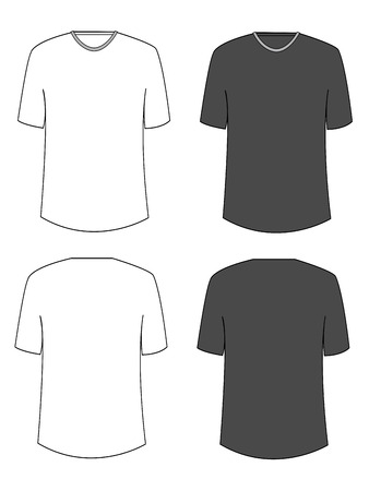 long neck: Apparel shirts template t-shirt templates Illustration