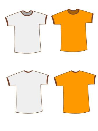 Apparel shirts template t-shirt templates Vector