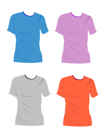 Apparel shirts template t-shirt templates Vector