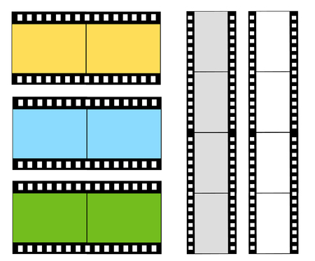 tatty: cinema film strip Illustration