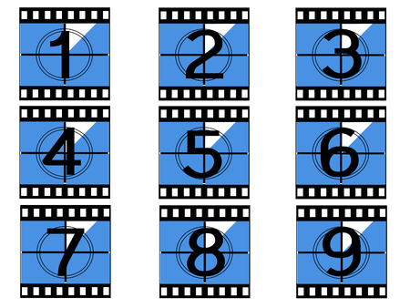 tatty: cinema film strip vectors Illustration