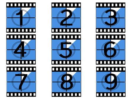cinema film strip vectors Çizim