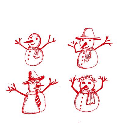 Illustration Snow Man