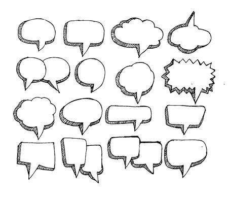 Speech Bubble Schets handgetekende bubble speech