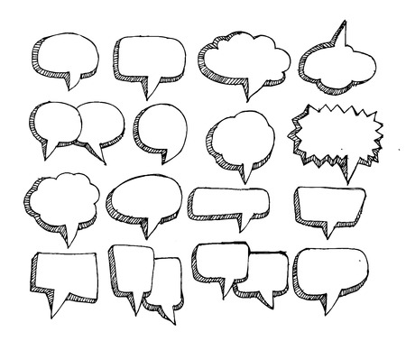 Speech Bubble Sketch hand drawn bubble speech  Illustration