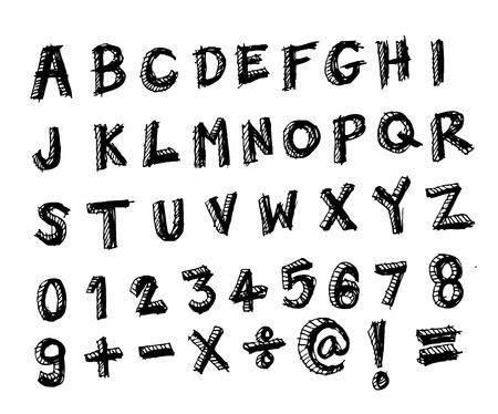 disegno a mano: Font Sketch di disegno a mano
