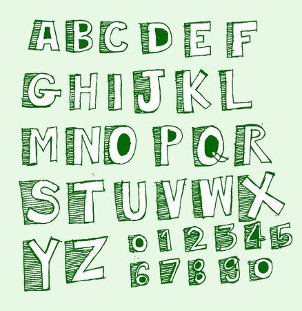 disegno a mano: Disegno Font schizzo a mano