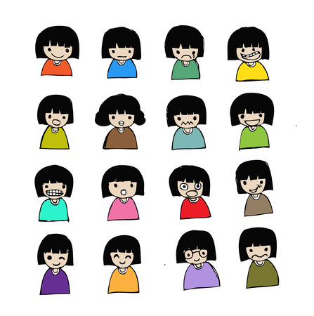 people emotions in Jaidee Family Style  Vector