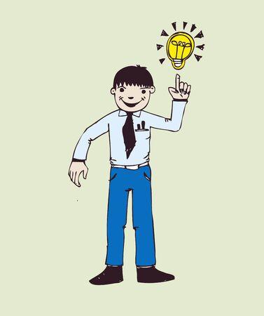 people ideas symbol and creativity  Vector