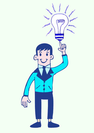 cartoon business man idea  Vector
