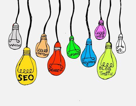 marketing online: Seo Idea SEO Search Engine Optimization  Illustration