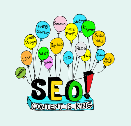 Seo Idea SEO Search Engine Optimization  Stock Vector - 23170182