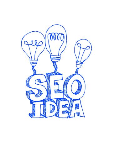 Seo Idea SEO Search Engine Optimization  Illustration