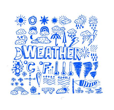 widget: drawing idea of weather symbols widget and icons