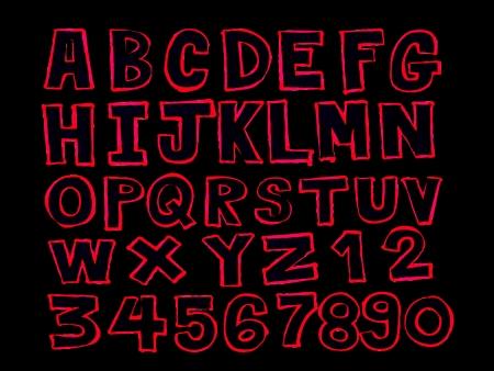 disegno a mano: Font schizzo a mano di disegno vettoriale lettere Vettoriali