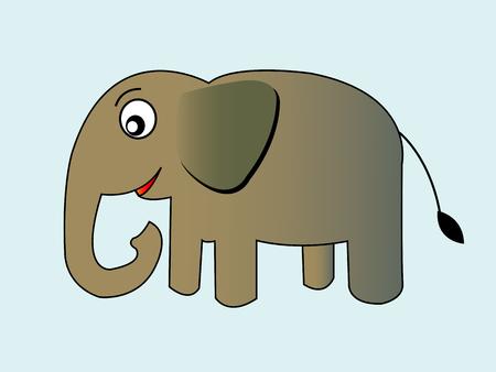 Cute cartoon elephant Vector illustration Vector