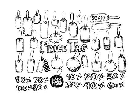 ean: Price Tag Set Illustration