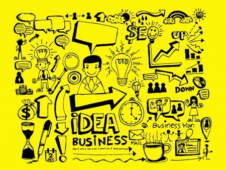 Hand doodle Geschäfts Standard-Bild - 23472445