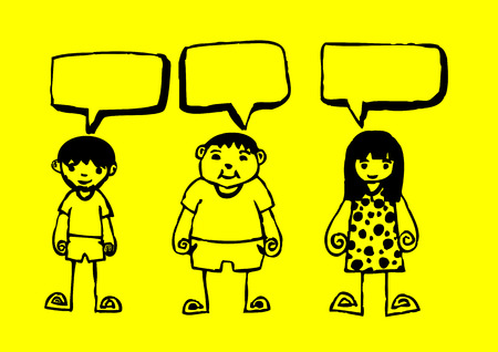 people icons dialog speech bubbles  Vector