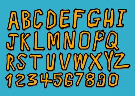 martinet: lettres tir�es vecteur r�el Hand �crit avec un stylo