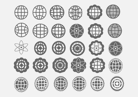 Globe earth vector icons themes idea