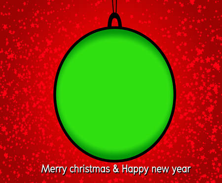 Merry Christmas And Happy New Year background Vector illustration  Vector
