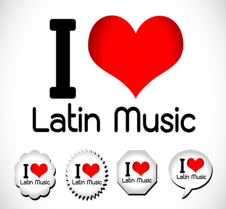 I love music idea Vector
