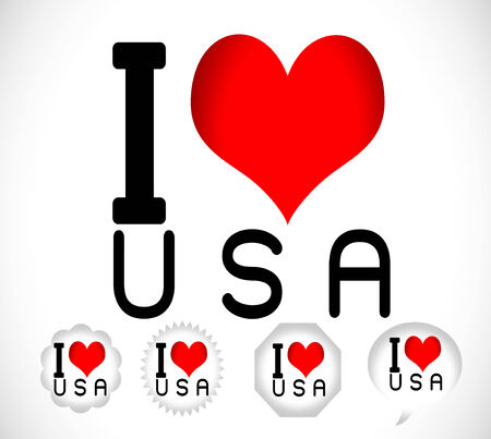 I Love USA i love new york and i love      Vector