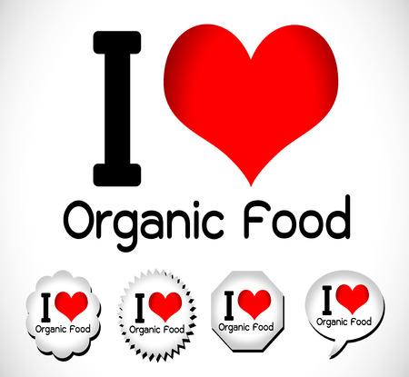 caterer: I Love Food idea Illustration