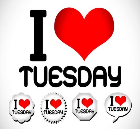 wednesday: I Love The Days of the Week Sunday , Monday , Tuesday , Wednesday , Thursday , Friday , Saturday