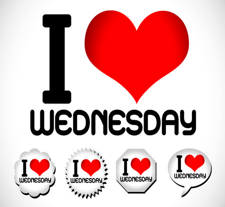saturday: I Love The Days of the Week Sunday , Monday , Tuesday , Wednesday , Thursday , Friday , Saturday