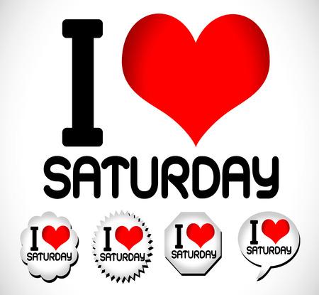 tuesday: I Love The Days of the Week Sunday , Monday , Tuesday , Wednesday , Thursday , Friday , Saturday
