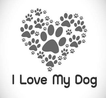 ik houd hond Stock Illustratie