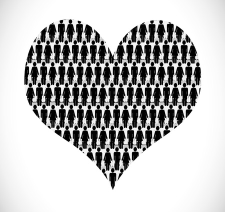 I Love People heart of people  Vector